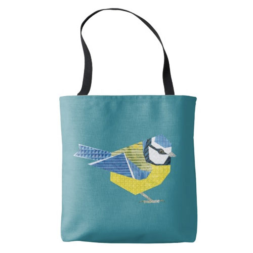 Blue Tit Bird Tote Bag