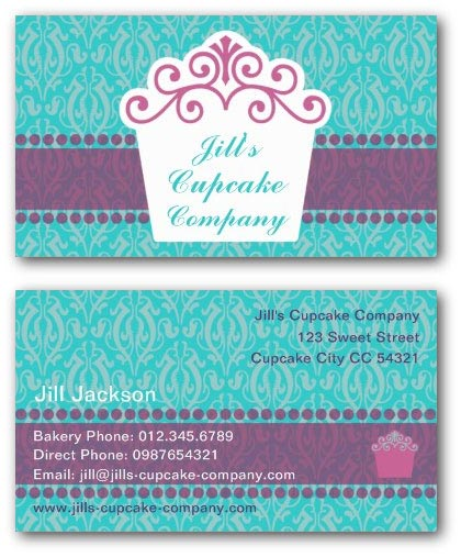 Cake business card