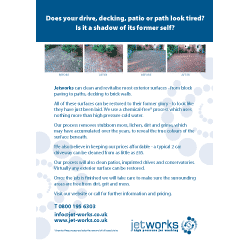 Driveway Cleaning Leaflet