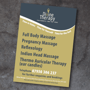 Divine Massage Therapy Flyer