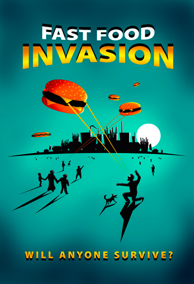 Fast Food Invasion Poster