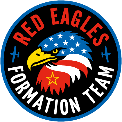 Eagles Air Formation Display Team Badge Logo