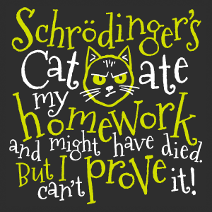 Schrodinger's Cat Ate My Homework and Might Have Died. But I can't Prove It!