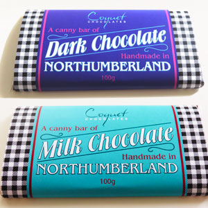 Handmade in Northumberland Chocolate Bar Wrappers