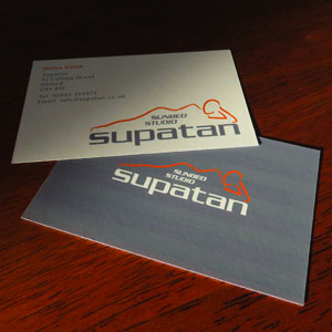 Front and Back Supatan Business Card