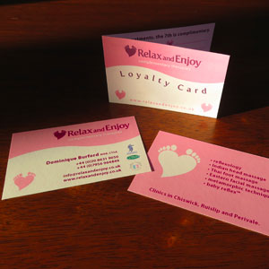 Reflexologist's Business Card and Loyalty Card
