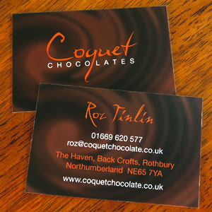 Chocolate Branding on Business Cards