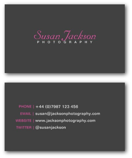 Simple photographer business card template