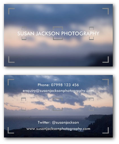 Camera viewfinder photographers business card template