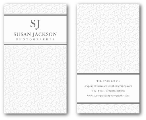 Stylish photographers business card template