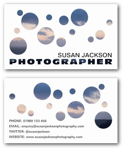 Aperture design photography business card example