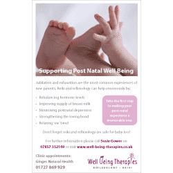 Post Natal Reflexology Flyer
