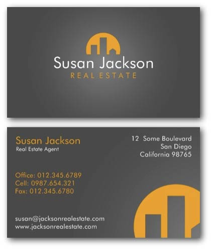 City real estate agent business card
