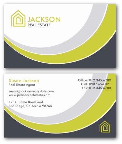 Modern real estate business card with logo